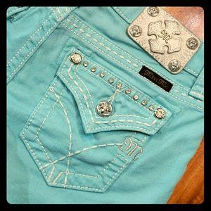 Miss Me Girls 16 Blue Bling Jean Shorts Ladies 25